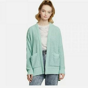NWT Wild Fable Green Chunky Knit Open Cardigan M